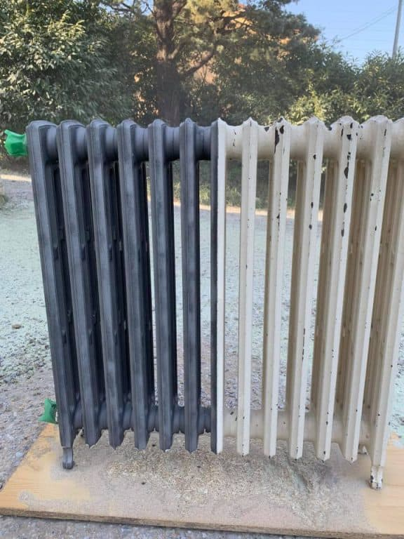 Avant - Après, décapage radiateur