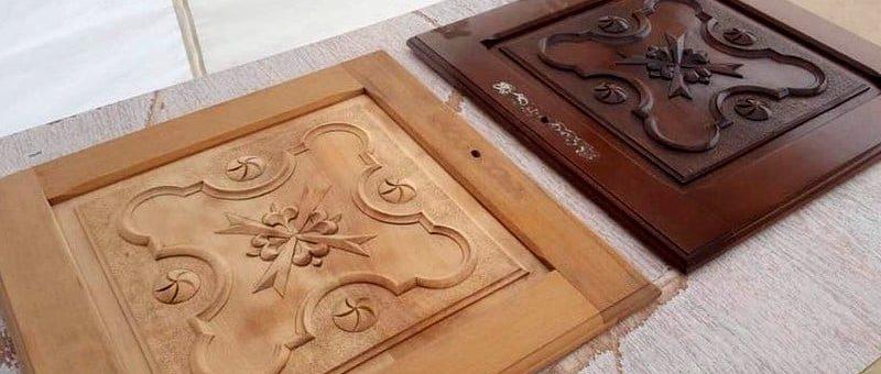 Avant - Après, décapage meuble bois