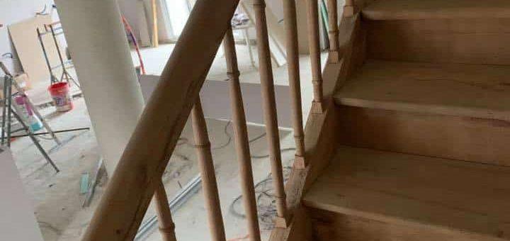 Décapage escalier